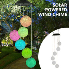 LED Solar Windspiel 6 Kugeln Gartendeko Solarleuchte Solarlampe Farbwechsel