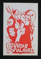 Affiche mai 68 POUVOIR POPULAIRE poster 1968
