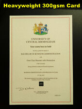 More details for university college degree novelty certificate diploma personalised award a4