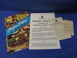 Thermador Electric Range 5830 Instructions and Cookbook  Original Materials