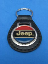 JEEP AUTO LEATHER KEYCHAIN KEY CHAIN RING FOB #262