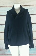 Vince Navy Blue Wool Blend Shawl Collar Pullover Sweater Top Size XL