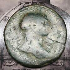 Numis - Sesterzio di Traiano - IMPERATORE A CAVALLO - moneta romana antica