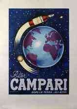 Metal Sign Bitter Campari Dolo La Terra Poster Nanni A4 12x8 Aluminium