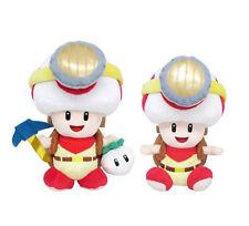 Sanei Super Mario Series Captain Toad Plush Doll - Standing & Sitting Pose