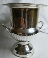 Vintage Silver Plate Champagne Wine Cooler Ice Bucket Trophy