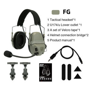FMA FCS AMP Tactical Headset Communication Noise Reduction V60 PTT Upgraded Gear