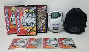 VideoNow / Video Now Player, Carrying Case, and Lot of 11 Videos - Black & White