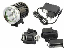LUCE BICI CREE LED T6 3800LM TORCIA FARO MTB  ENDURO OFF ROAD + BATTERIA LITIO