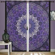 Purple Color Star Mandala Wall Hanging Door Window Curtain Drape Valance Indian