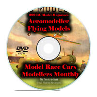 299 RC Model Airplane Magazines, Aeromodeller, Flying Models, Modellers DVD I12