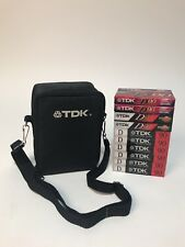 TDK D90 Sealed Blank Audio Cassette Tapes (10 Count) With Carrying Case
