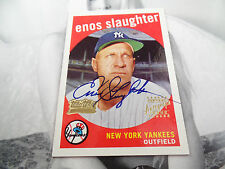 Enos Slaughter autographed auto 1959 Team Topps Fan Favorites Archives signed SP