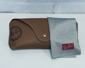 Ray-Ban Brown Leather Sunglasses by Luxotica Empty Case With Cloth