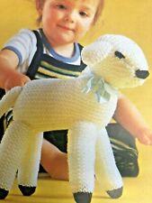 Approx 80cm tall Vintage Knitting Pattern Lamb// sheep TOY