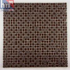 Pâte De Verre ipora pierre naturelle carrelage mosaïque brun foncé