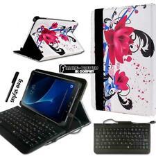 "Pelle Stand Custodia Cover + Tastiera Per 7 "" 8 "" 10 "" Samsung Galaxy Tab A A6"