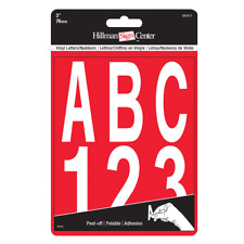 "Hillman 847017 3"" Individual Die-Cut White Letters & Numbers Set"