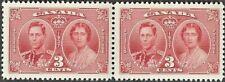 Canada  # 237 Pair  King George VI Coronation  Brand New 1937 Pristine Gum