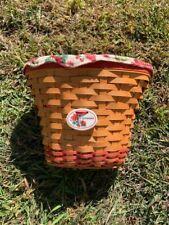 2002 Longaberger Geranium Basket, Fabric