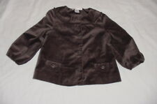 EUC Janie & Jack Girls PRECIOUS HOLIDAY Brown Velvet Jacket 12-24 M VHTF
