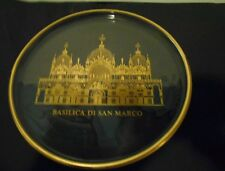 Glass Plate,Basilica Di San Marcos-Historic Church Collection,Etched in Gold '71