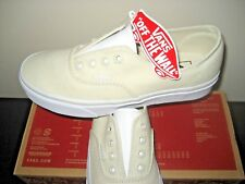 Vans Womens Authentic Gore Slip on Leather Canvas Bone White shoes size 8 NWT