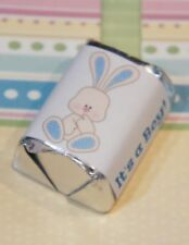 30 Baby Shower It's A Boy Blue Bunny Hershey Candy Nugget Wrappers Stickers