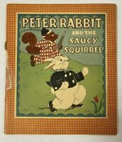 Peter Rabbit And The Saucy Squirrel Copyright 1932 Whitman Paper Book Vintage