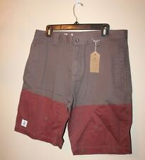 AMONGST FRIENDS MENS 2 COLOR SHORTS NEW BROWN BRICK RED KHAKIS SIZE 34