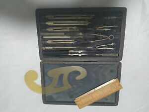 Vintage British made Technical Drawing Instruments Draughtsman Compass Set