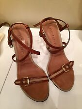 Burberry Wedge Heels Strappy Sandals - Size 38