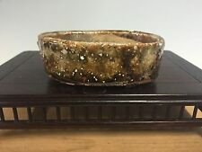 "Hand Made Taizen Made Shohin Size Bonsai Tree Pot. Terrific Glaze! 3""+"