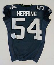 #54 Will Herring of Seattle Seahawks NFL Game Issued Player Worn Jersey