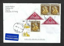 Lithuania cover with assorted stamps including triangles … Siauliai cancels