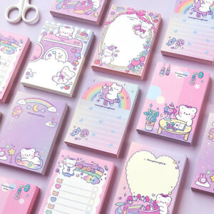 """""""Cute Bear"""" Small Memos Pocket Notepads DIY Removable Tear off Paper Study Notes"""