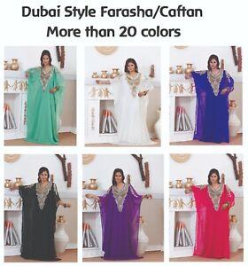 Dubai Style Women Kaftan Caftan Farasha Abaya Maxi Dress Kimono Beach Cover Up B