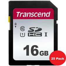 25 Pieces Transcend 16GB SDHC UHS-1 Class 10 Secure Digital Memory Card