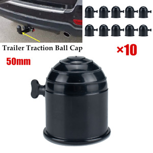 10PCS 50mm Black Plastic Tow Bar Ball Cover Cap Car Towing Hitch Towball Protect