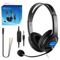 Gaming Headset With Noise Cancelling Mic For PS4 Xbox One PC Laptop With Box