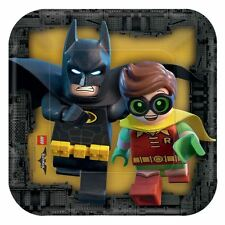 8pk LEGO BATMAN MOVIE piatti di carta 18cm DC Supereroe Festa Di Compleanno Stoviglie