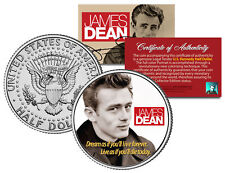 JAMES DEAN * FAMOUS QUOTE * JFK Kennedy Half Dollar US Colorized Coin *LICENSED*
