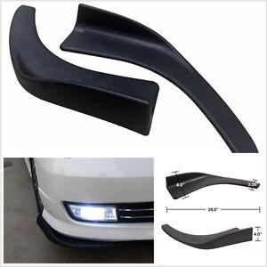 2 Pcs Compact Car Front Deflector Splitter Diffuser Bumper Canard Lip Chin