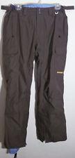 brown nylon waterproof vented snow - ski pants by Foursquare ladies size L