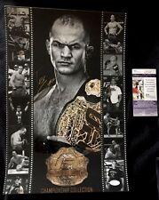 Junior Dos Santos UFC Signed Custom 12x18 Photo JSA Authenticated