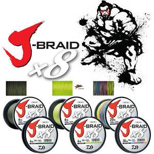 DAIWA J-BRAID X8 - 150m / Green / Chartreuse / Multi Color / 9-58 Lbs 0.06-0.28