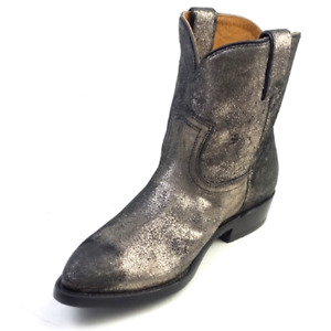 Frye Leather Pull-on Boots Billie Short Gold