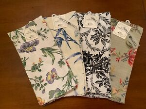 April Cornell Kitchen 2 Tea Towels Waffle Texture Choice of Patterns Floral New