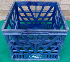 Brown's Velvet Rare Vintage Blue Heavy Duty Plastic Milk Crate Case Container