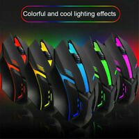 S1 7 Colors Mice Ergonomics Wired Gamer Mouse Flank Mouse PC Gaming Laptop T0U6